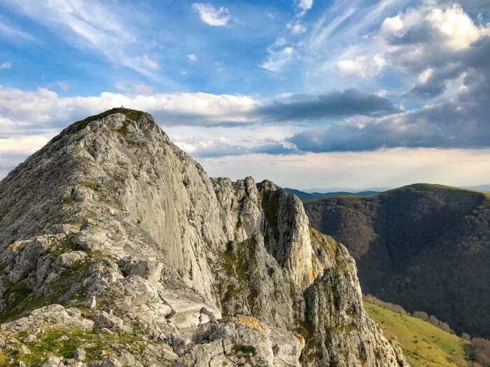 alluitz mountain in the urkiola national park in the basque country spain