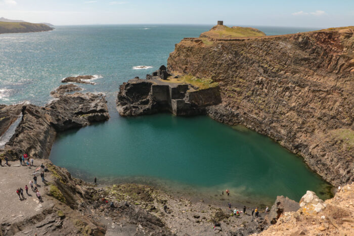 view from above of the Blue Lagoon, Wales