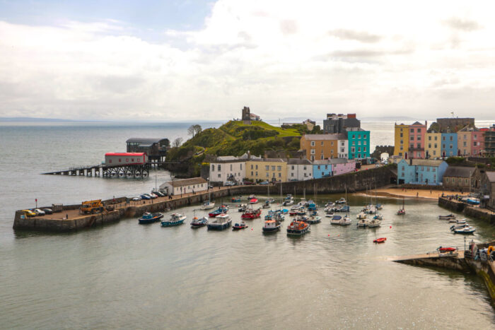 The colorful fishing village of Tenby in Wales